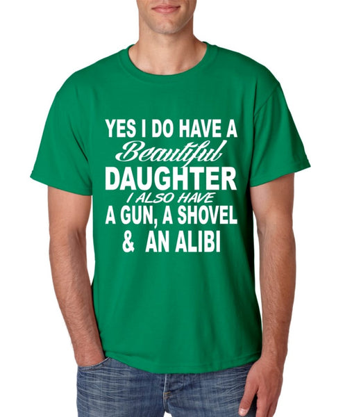 Yes I do have a beautiful daughter men T-shirt - ALLNTRENDSHOP - 5