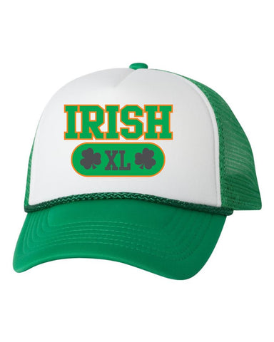 Irish XL shamrock dual color trucker hat - ALLNTRENDSHOP