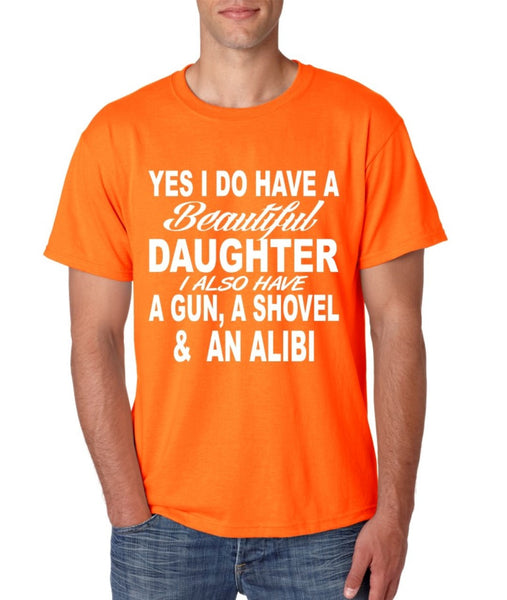 Yes I do have a beautiful daughter men T-shirt - ALLNTRENDSHOP - 2