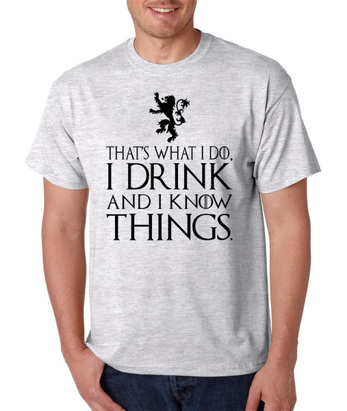 That What I Do I Drink And I Know Things mens t-shirt - ALLNTRENDSHOP - 2