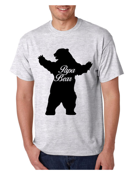 Men's T Shirt Papa Bear Family Shirt For Dad Xmas Cute Gift - ALLNTRENDSHOP - 5