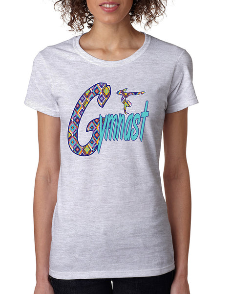 Women's T Shirt Gymnast Aztec Love Gymnastic Top Sport Gym