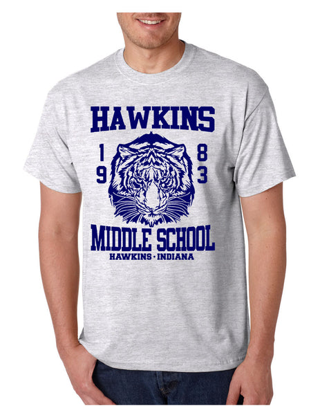 Men's T Shirt Hawkins Middle School 1983 - ALLNTRENDSHOP - 5
