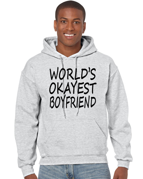 World's OKayest boyfriend men Hoodie - ALLNTRENDSHOP - 2