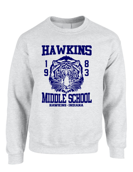 Adult Crewneck Sweatshirt Hawkins Middle School 1983 - ALLNTRENDSHOP - 6