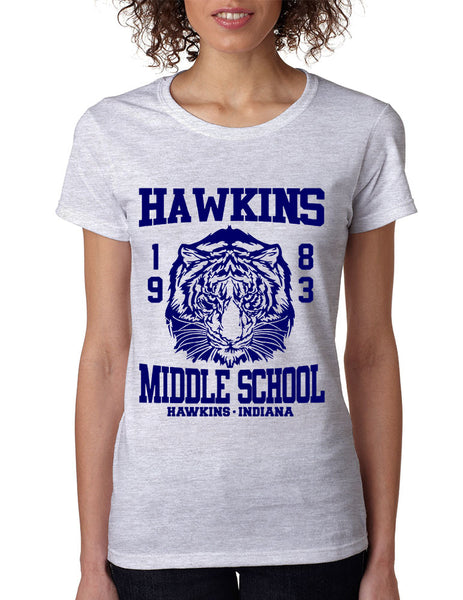Women's T Shirt Hawkins Middle School 1983 - ALLNTRENDSHOP - 6