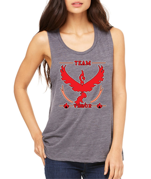Women's Flowy Muscle Top Team Valor Red Team Top - ALLNTRENDSHOP - 6