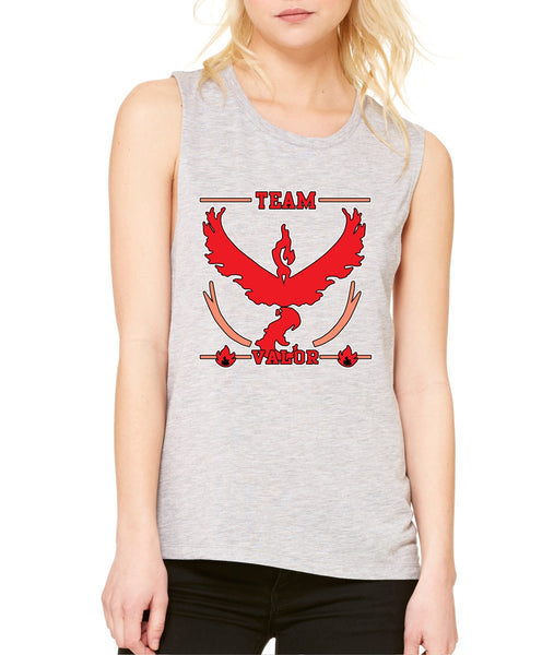Women's Flowy Muscle Top Team Valor Red Team Top - ALLNTRENDSHOP - 2