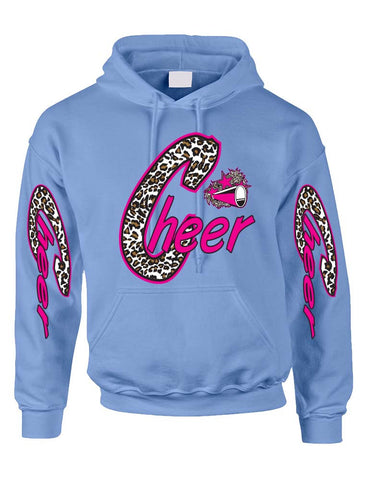 Cheer White Leopard women's Hoodies - ALLNTRENDSHOP