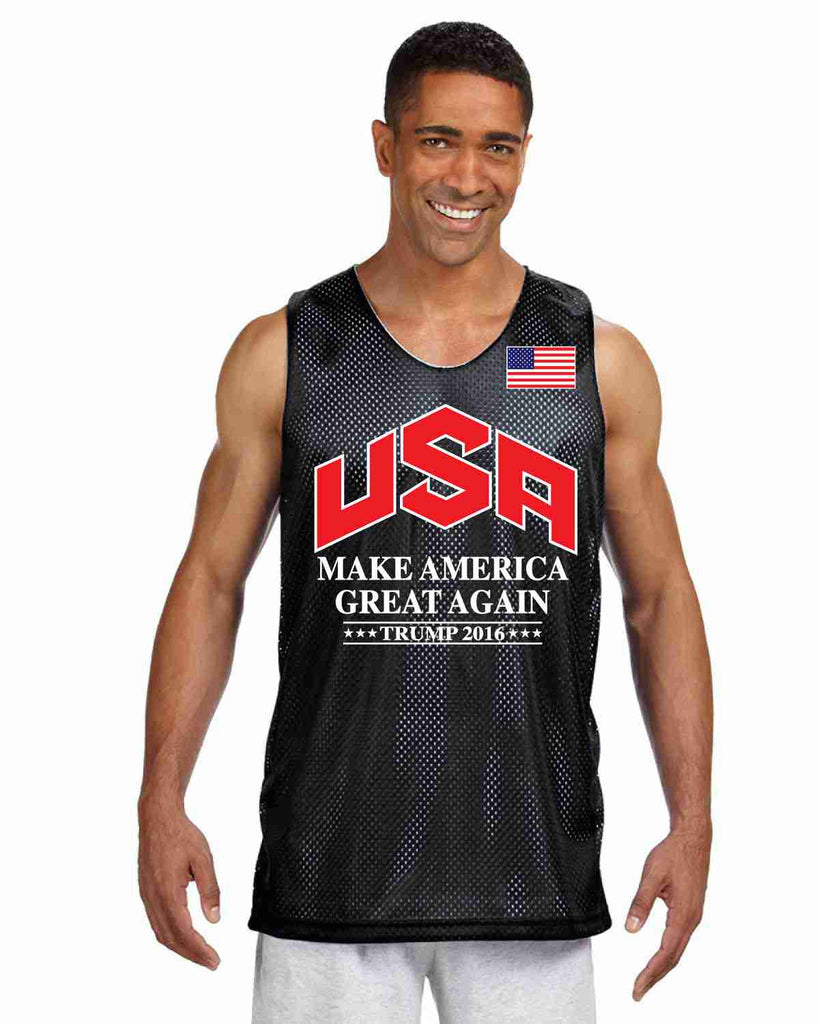 Men's Olympic Mesh Tank TRUMP 2016 Great Again Shirt - ALLNTRENDSHOP - 1