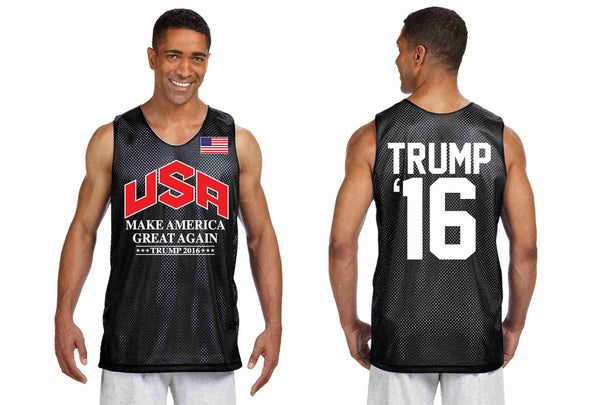 Men's Olympic Mesh Tank TRUMP 2016 Great Again Shirt - ALLNTRENDSHOP - 2