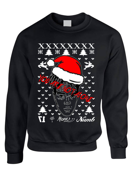 Adult Sweatshirt You Are Not Alone Ugly Xmas Top Trendy Holiday Gift