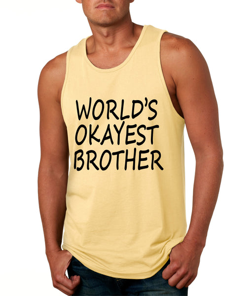World's OKayest brother men jersey tank top - ALLNTRENDSHOP - 2