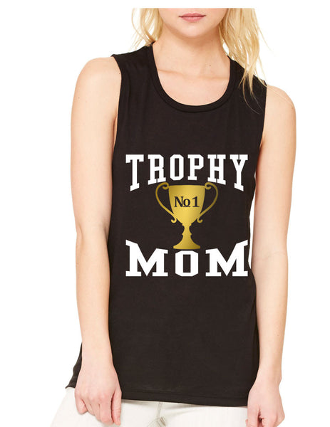 Women's Flowy Muscle Top Trophy Mom Gift Love Mother's Day Top - ALLNTRENDSHOP - 5