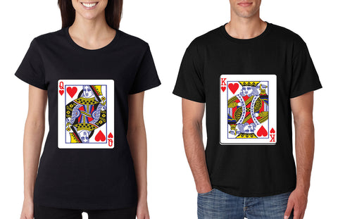 King and Queen matching couples tshirts Valentines day - ALLNTRENDSHOP - 1