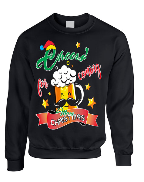 Adult Sweatshirt Cheers For Coming Xmas Gift Idea