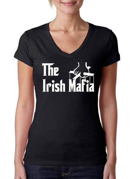 The Irish mafia Women sporty V Shirt saint patricks day - ALLNTRENDSHOP - 3