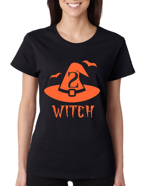 Women's T Shirt Witch 1 2 Cool Funny Halloween Costume Tee