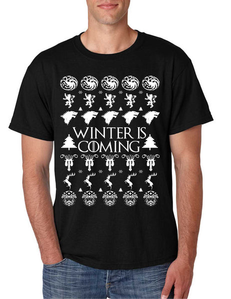 Men's T Shirt Winter Is Coming Ugly Christmas Sweater Cool Gift