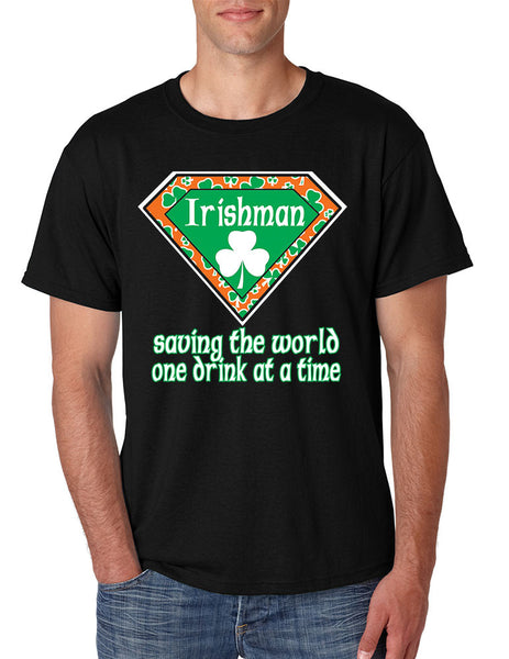 Irishman saving the world st patricks men t-shirt - ALLNTRENDSHOP - 2
