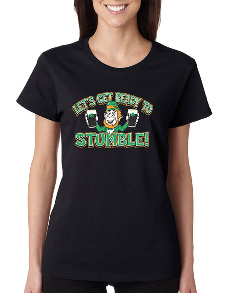 let`s get ready to stumble St patrick women t-shirt - ALLNTRENDSHOP - 5