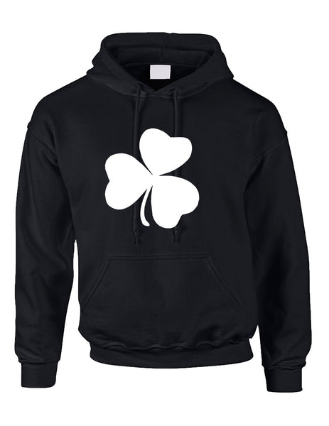 Adult Hoodie White Shamrock Graphic St Patrick's Day Cool Party - ALLNTRENDSHOP - 2