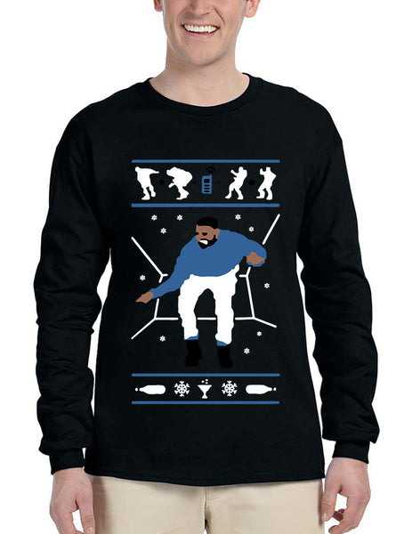 Men's Long Sleeve Hotline Bling Blue 1-800 Hotline Ugly Sweater - ALLNTRENDSHOP - 4