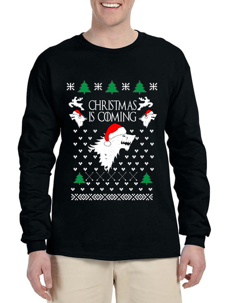 Men's Long Sleeve Christmas Is Coming House Stark Ugly Xmas
