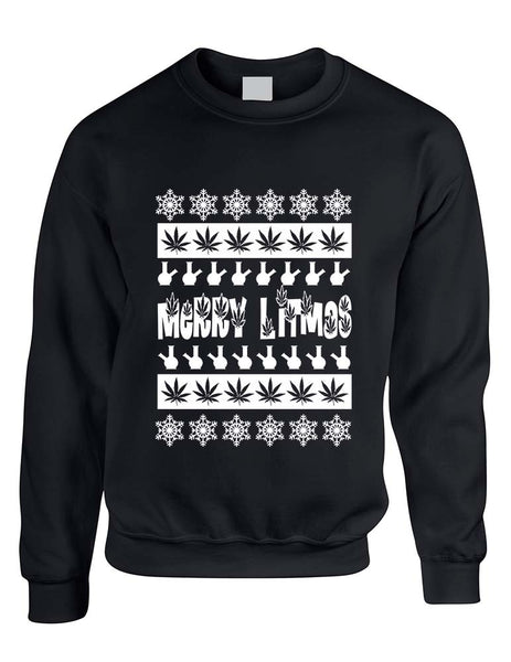 Merry Litmas bong woman sweatshirt - ALLNTRENDSHOP