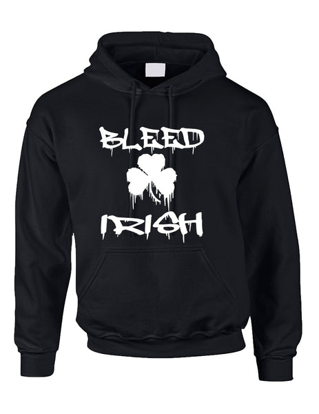 Adult Hoodie Bleed Irish St Patrick's Day Party Love Irish - ALLNTRENDSHOP - 4