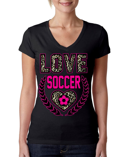 Love Soccer Leopard Womens Sporty V - ALLNTRENDSHOP - 5