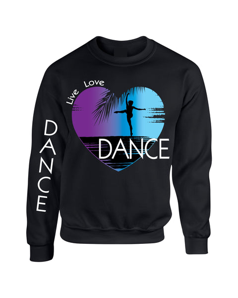 Adult Sweatshirt Dance Art Purple Print Love Cute Top Nice Gift - ALLNTRENDSHOP - 2
