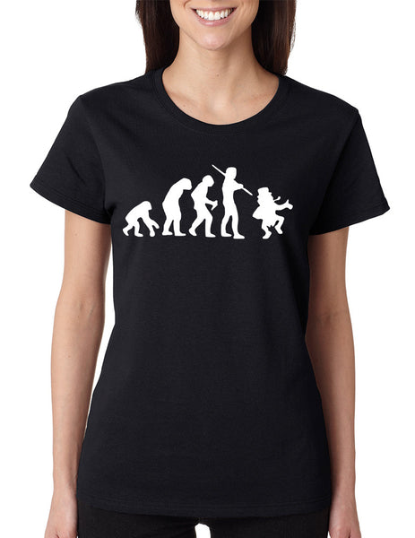 Women's T Shirt Irish Evolution Leprechaun St Patrick's Tee - ALLNTRENDSHOP - 2