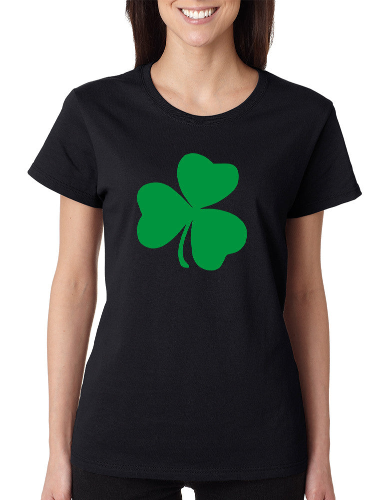 Women's T Shirt Green Shamrock Graphic St Patrick's Day Tee - ALLNTRENDSHOP - 1