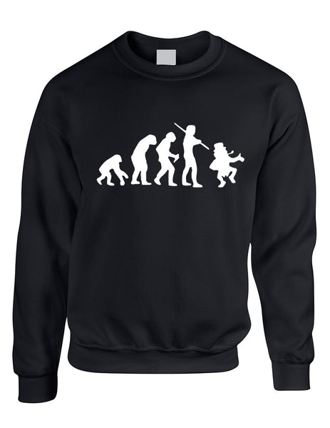 Adult Sweatshirt Irish Evolution Leprechaun St Patrick's Top - ALLNTRENDSHOP - 2