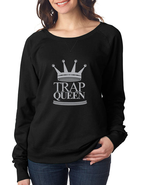 Trap Queen long sleeve Pullover women - ALLNTRENDSHOP - 1