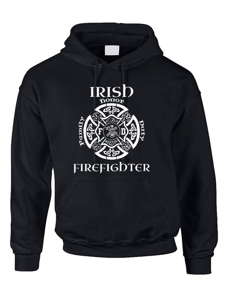 Adult Hoodie Irish Firefighter St Patrick's Top Love Irish Party - ALLNTRENDSHOP - 2
