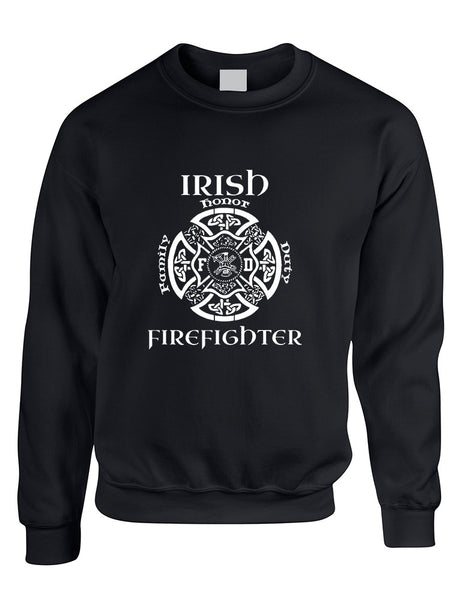 Adult Sweatshirt Irish Firefighter St Patrick's Top Irish Party - ALLNTRENDSHOP - 2