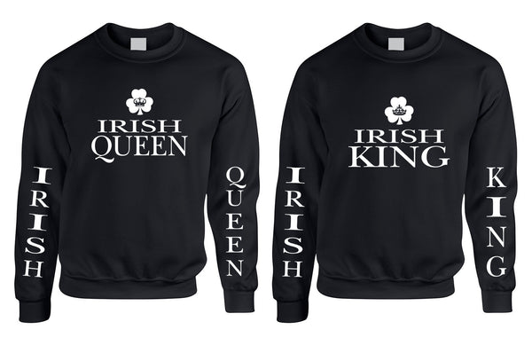 Couple Sweatshirt Irish Queen Irish King St Patrick's Party Set