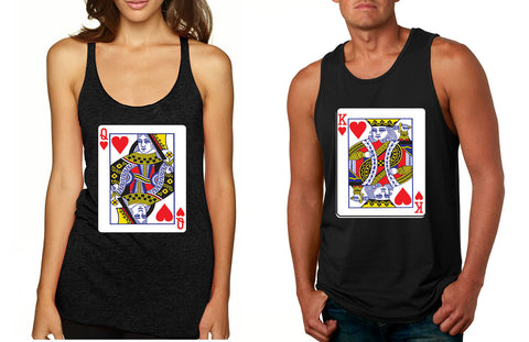 King and Queen matching couples Valentines day tanktop - ALLNTRENDSHOP - 1