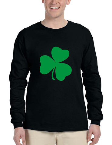 Men's Long Sleeve Green Shamrock Graphic St Patrick's Day Shirt - ALLNTRENDSHOP - 1