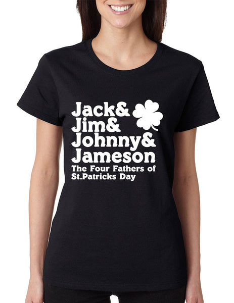 The four fathers of st patricks day women T-shirt - ALLNTRENDSHOP - 1