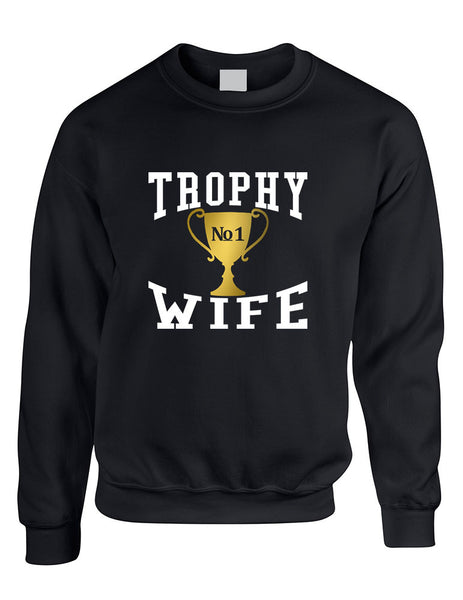 Adult Sweatshirt Trophy Wife Cool Xmas Love Holiday Gift - ALLNTRENDSHOP - 2