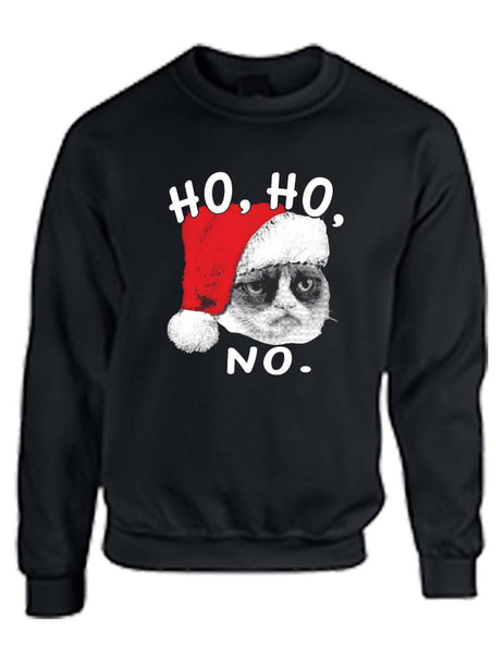 HO HO NO Grumpy cat women sweatshirt - ALLNTRENDSHOP