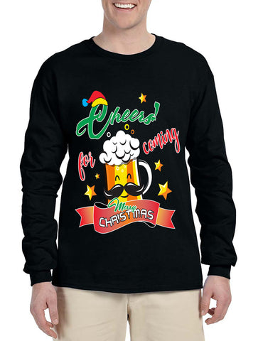 Men's Long Sleeve Cheers For Coming Xmas Gift Idea