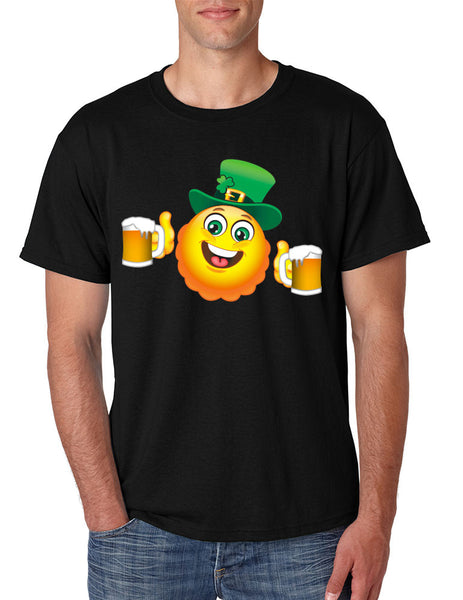 Irish smiling Emoji ST patricks men t-shirt - ALLNTRENDSHOP - 4