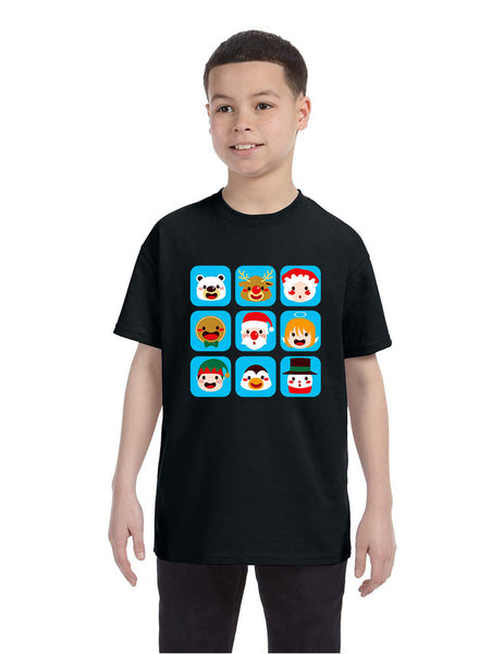 Kids T Shirt Christmas Icons Ugly Holiday Symbols T-Shirt - ALLNTRENDSHOP - 5