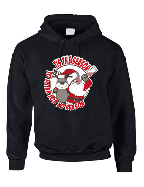Adult Hoodie Tis The Season Drink No Reason Ugly Sweater - ALLNTRENDSHOP - 2