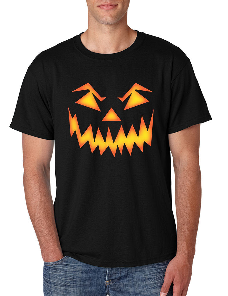 Men's T Shirt Angry Pumpkin Face Cool Halloween Costume Tee - ALLNTRENDSHOP