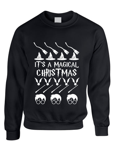 Adult Crewneck It's A Magical Christmas Ugly Sweater Cool Gift - ALLNTRENDSHOP - 3